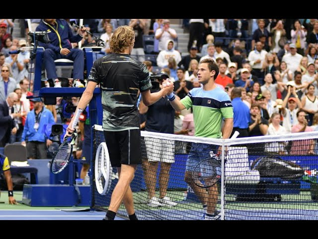 Alexander Zverev Vs Diego Schwartzman Us Open 2019 R4 Highlights Youtube