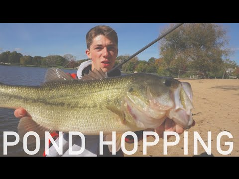 Sneaking Into Ponds + Fall Bass Fishing -- VLOG #9