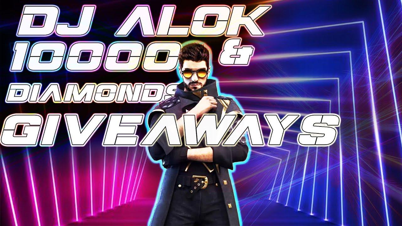 FF LIVE 10000 Diamond Giveaway | Dj alok Giveaway | Garena Free Fire | CUSTOM ROOMS | ROAD TO 10K