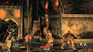 Lord of the rings War in the North Tharzog boss fight