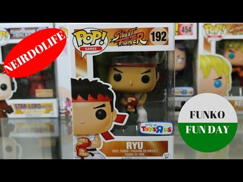 STREET FIGHTER RYU TOYS R US HADOKEN VARIANT Funko Pop Figure UNBOXING REVIEW BY Neirdolife