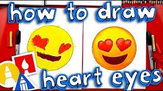 How To Draw Heart Eyes Emoji