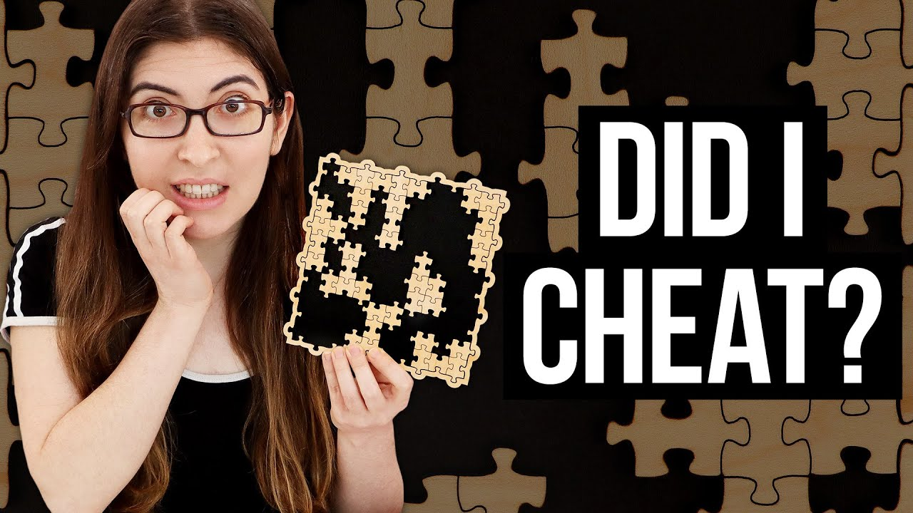 Did I cheat at this 20 piece jigsaw puzzle? (it's a tricky one)