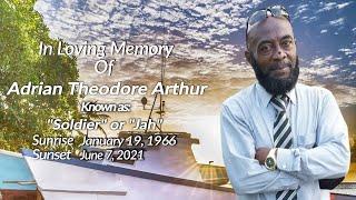 Celebrating The Life of Adrian Theodore Arthur