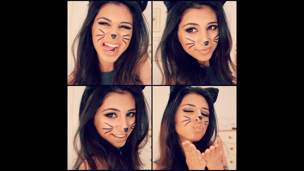 Cat Halloween Makeup Tutorial! - YouTube