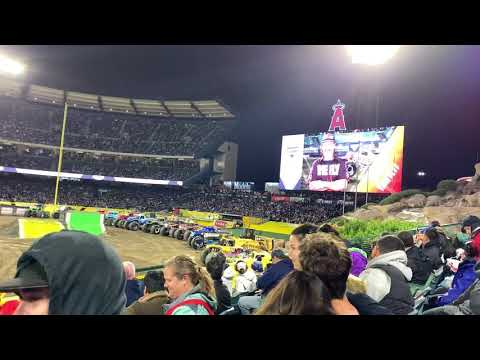 Monster Jam At Anaheim February 22nd Time Flys Freestyle