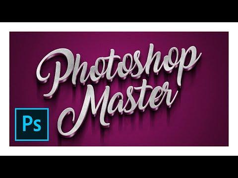 PHOTOSHOP Tutorial -  Secret 3D Text Effect