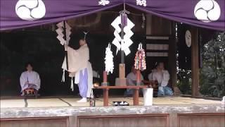 2018.12.07 らき☆すた鷲宮神社神楽 第一座 天照国照太祝詞神詠之段