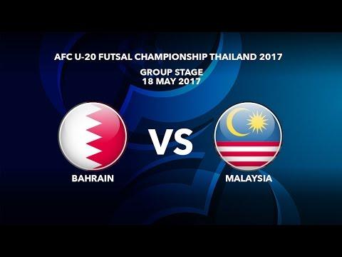 #AFCU20FC THAILAND 2017 - M23 Bahrain vs Malaysia  - Highlights