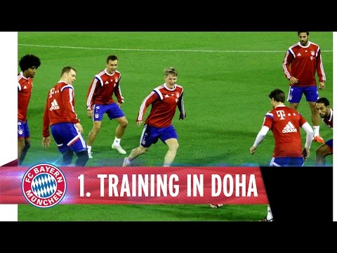 First training session in Doha
