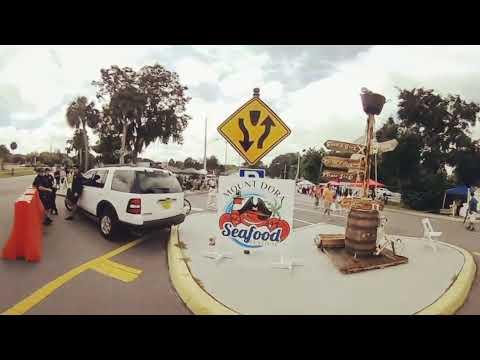 Mount Dora, FL Seafood Festival 360 video Aug. 27, 2017