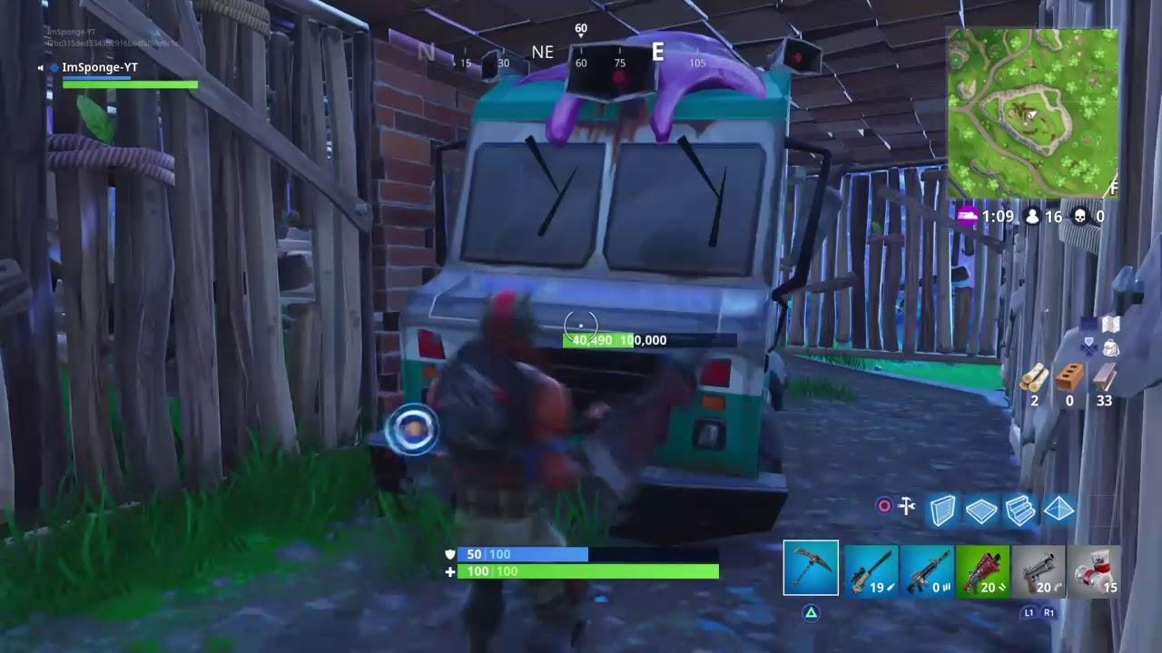 Destroying K Health Van In Fortnite Solo