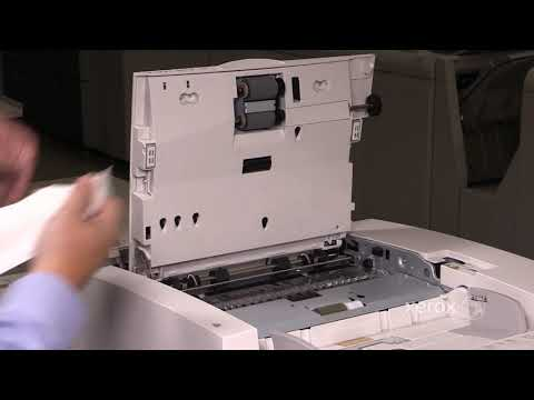 Xerox® D95 D110 D125 D136® Black and White Copier Printer Cleaning the Nudger Feed & Takeaway Rolls