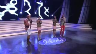 Idols SA group performance with twins