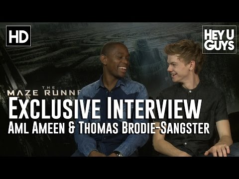 Aml Ameen & Thomas Brodie Sangster Exclusive   The Maze Runner