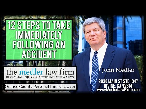 12 Steps To Take Immediately Following An Accident