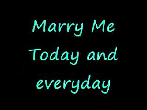 Train - Marry me (lyrics)