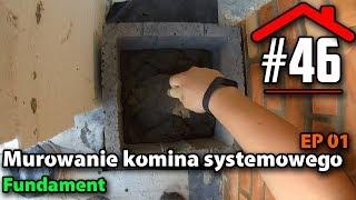 #46 Murowanie komina systemowego EP01 - Fundament  - Budowa domu na płycie fundamentowej samemu