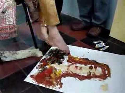 Resultado de imagem para pintura com os pés gasparetto foto
