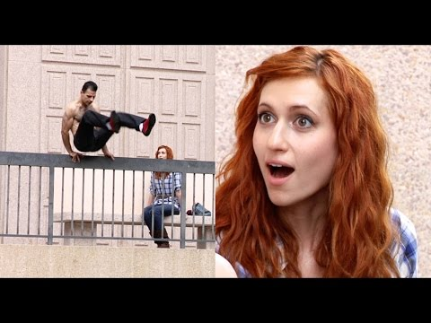 Bold Guy Picks Up Girl During Parkour (Mystery Girl)