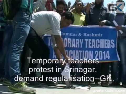 Temporary Teachers Protest In Srinagar, Demand Regularisation