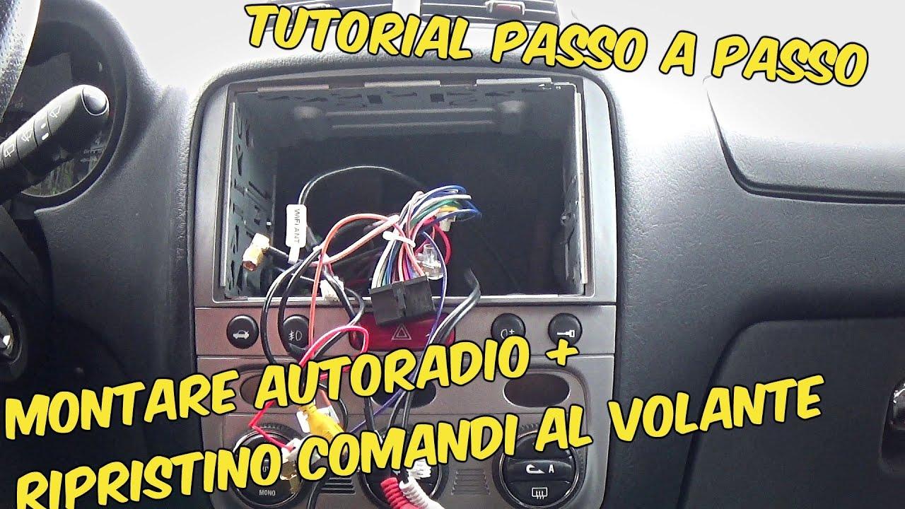 Fascia ISO universale per montaggio radio 1 DIN