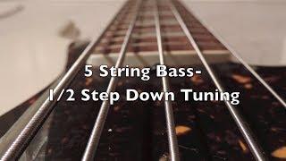 5 string bass 1 2 step down tuning hd