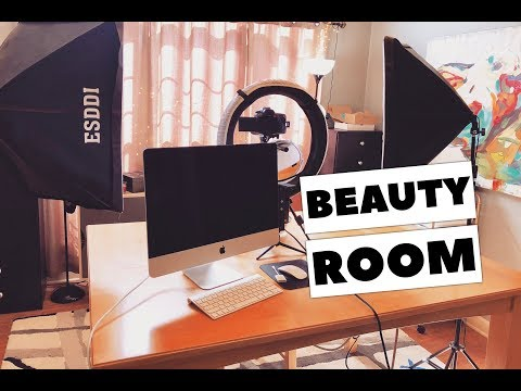 Beauty Room Tour and Filming Set Up
