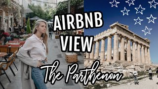 Gambar cover View of the Parthenon from our AIRBNB! | First Time in Greece!