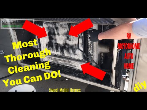 How To Clean a Motor Home RV Radiator/ Condenser... BEST METHOD EVER!
