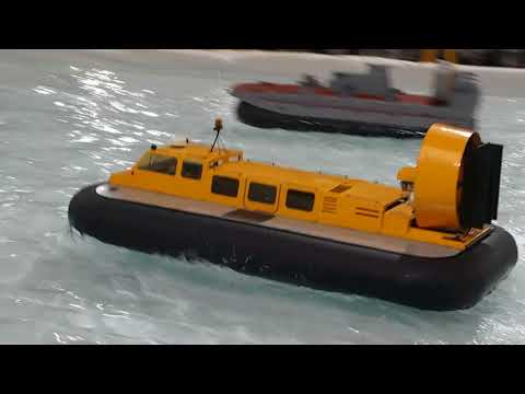 Model Hovercraft at the 2017 International Model Boat Show at Warwick
