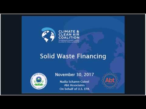 Webinar: Municipal Solid Waste Financing