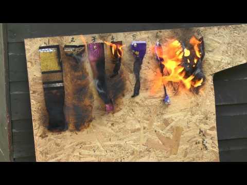 Fire Retardant Spray Test