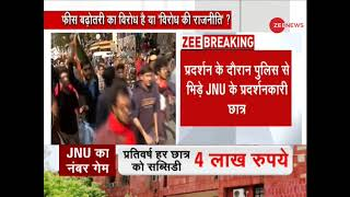 JNU students violate Section 144, securities tighten up nearby Parliament