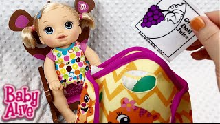 Baby Alive Baby Go Bye Bye Doll What I Pack in my Diaper Bag