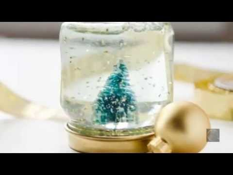 Как из стеклянной банки сделать снежный шар