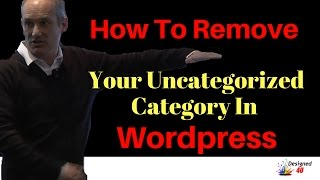 how to remove uncategorised from wordpress