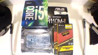 UNBOXING & PC Build | Intel Core i5 7400 Asus H110M-E DDR4 Corsair LPX Vengeance Red Barracuda 2tb