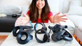 Valve Index Controllers VS Oculus Touch VS HTC VIVE Controllers (Review)