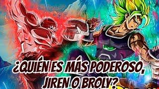 ¿Quién es más Poderoso, Jiren o Broly? - Dragon Ball SUPER