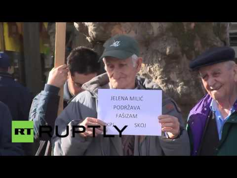 Serbia: Protesters march against Pro-NATO conference in Belgrade