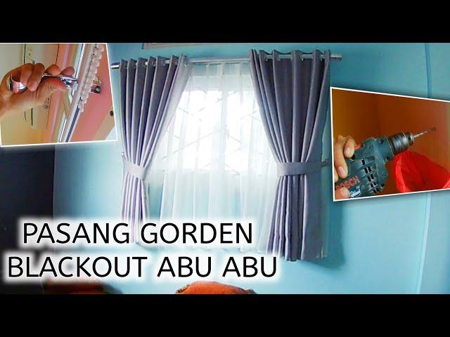 Gorden Minimalis Blackout Abu | PesanGorden.id