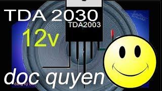 Hướng dẫn cách làm mạch ampli đơn giản 12v với TDA 2030, speaker circuit
