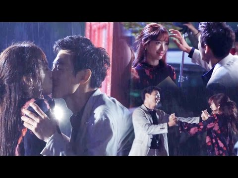 《Making Film》 Park Shin Hye ♥ Kim Rae Won, Kiss Scene in the rain behind @The Doctors