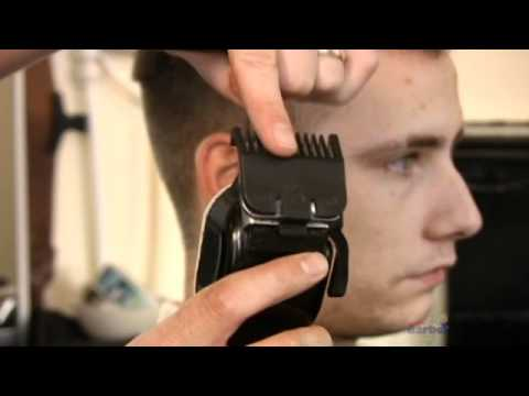 How to cut mens hair at home -cutting the edges with clippers.  Instant Barber now FREE!