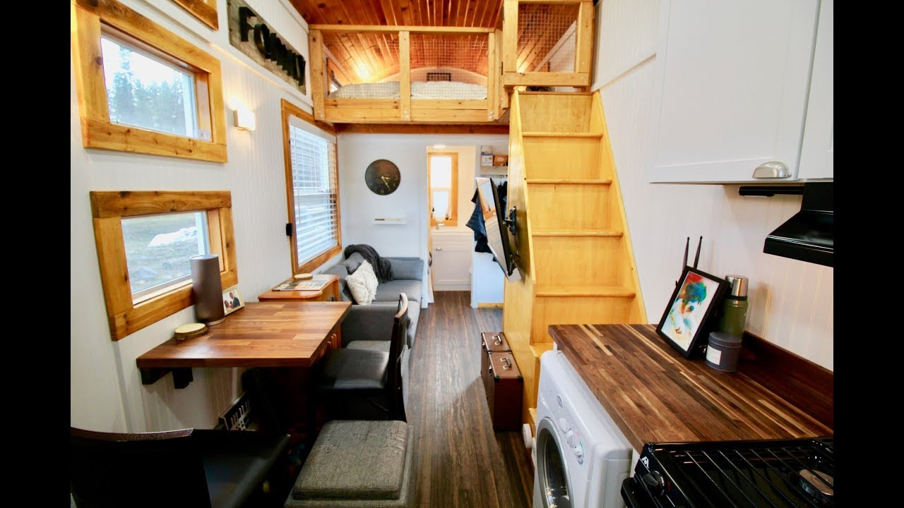 Rustic And Modern Tiny House Youtube