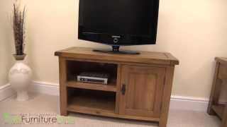Cotswold Rustic Solid Oak Tv & Dvd Cabinet