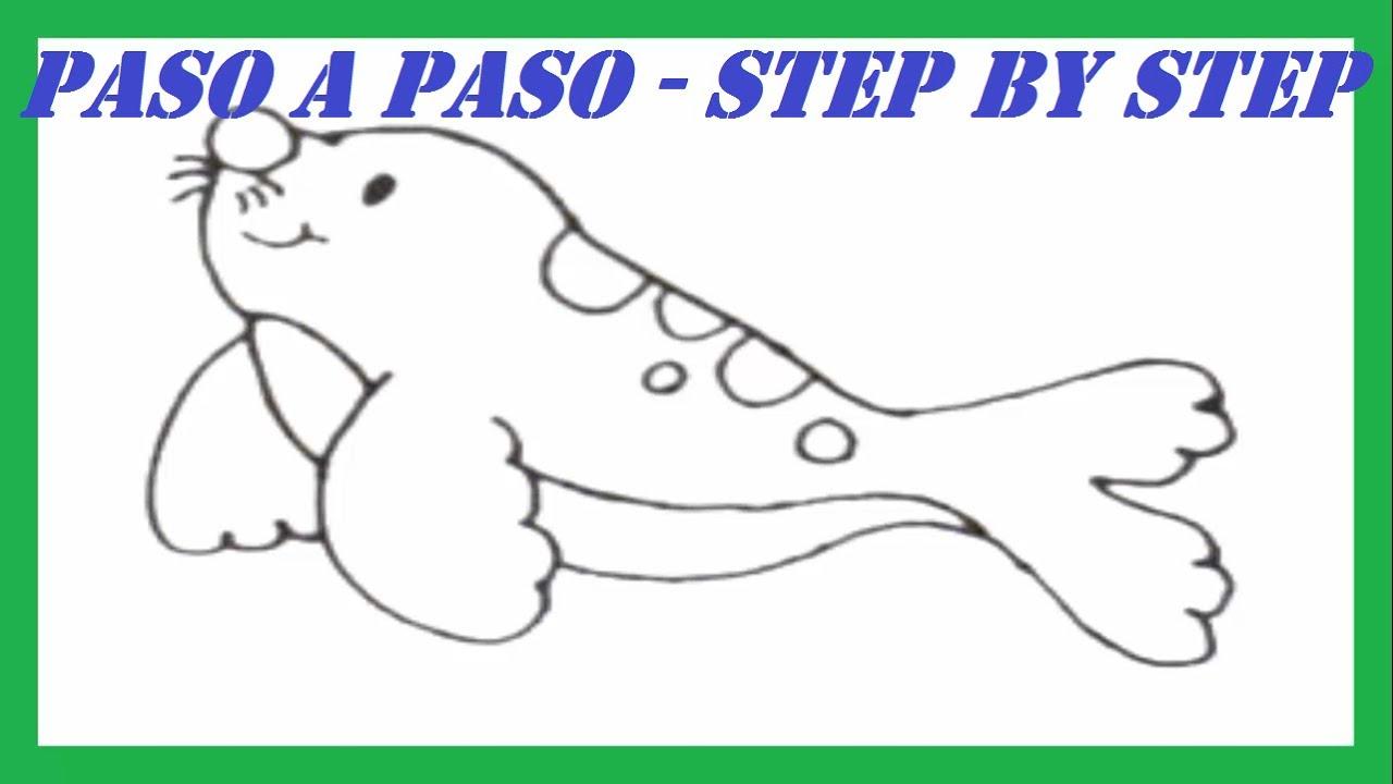 Como dibujar una Foca paso a paso l How to draw a Seal step by