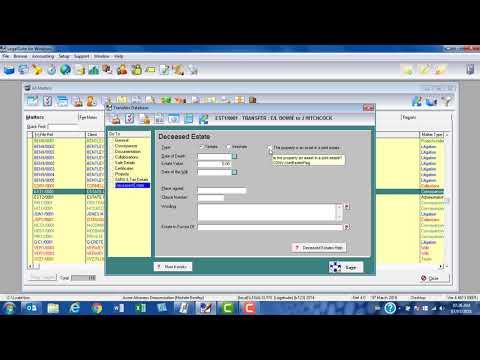 Completing the Docgen Database   Part 9   The DECEASED ESTATE screen