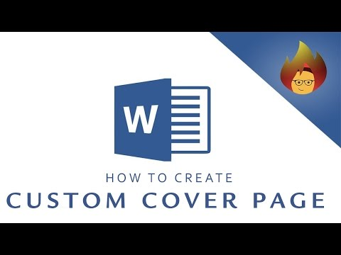 How to create a CUSTOM COVER PAGE | MICROSOFT WORD 2016